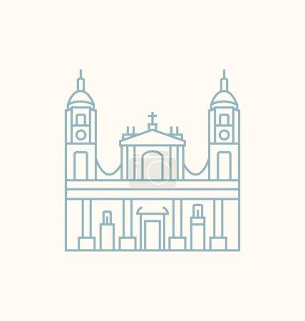 Illustration pour Illustration vectorielle colorée Capitales mondiales . - image libre de droit