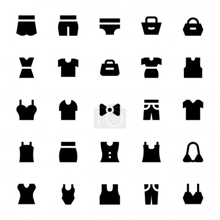 Clothes, Apparel and Garments Vector Icons 3