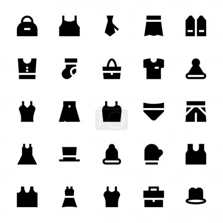 Clothes, Apparel and Garments Vector Icons 2
