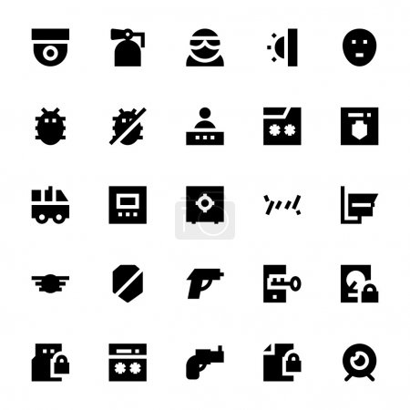 Crime, Security and Defence Vector Icons 2