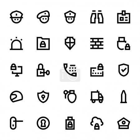 Crime, Security and Defence Vector Icons 1