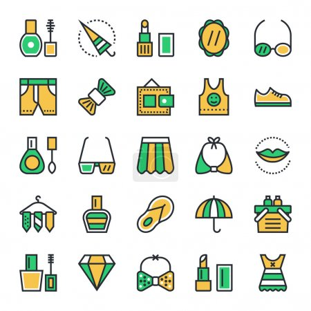 Fashion & Beauty Vector Icons 4