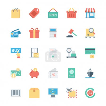 Shopping, Ecommerce, Retail and Shipping Vector Icons 1