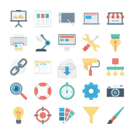 Web Design and Development Vector Icons 1
