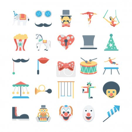 Circus Colored Vector Icons 3