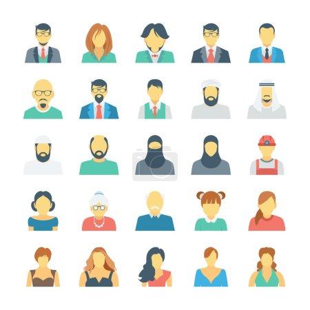 Illustration pour Ces icônes vectorielles avatar sont certainement géniales si vous cherchez un avatar pour vous représenter ou pour tout projet que vous pourriez avoir . - image libre de droit