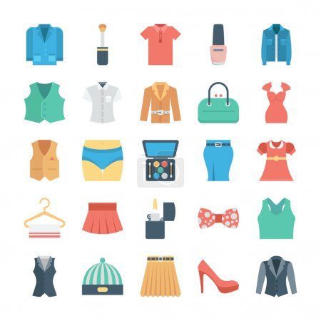 Fashion and Clothes Vector Icons 4