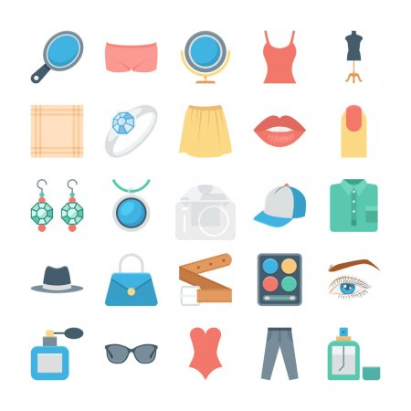 Fashion and Clothes Vector Icons 3