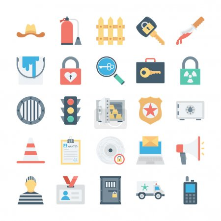 Crime and Security Vector Icons 7