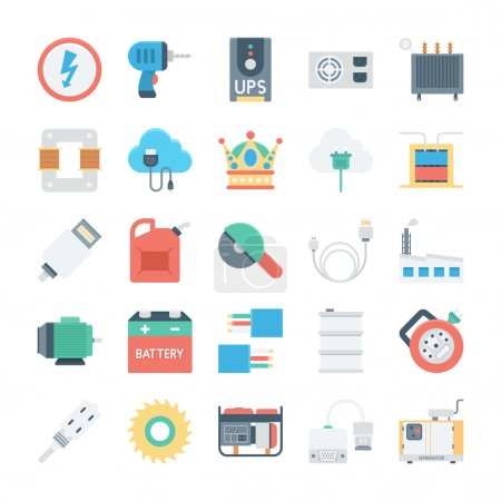 Energy and Power Vector Icons 5