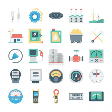 Energy and Power Vector Icons 6