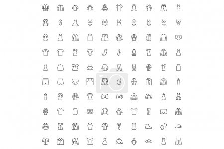 Men and Women Clothes Icons Pack