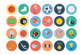 A set of sports vector flat icons