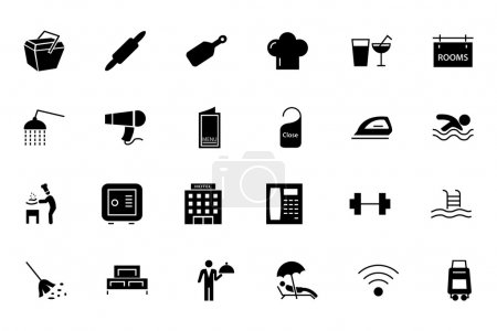Hotel and Restaurant Vector Icons 2
