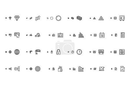 Illustration pour Un ensemble d'icônes vectorielles financières réactives . - image libre de droit