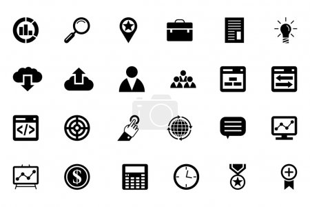 A set of SEO and marketing vector line icons....