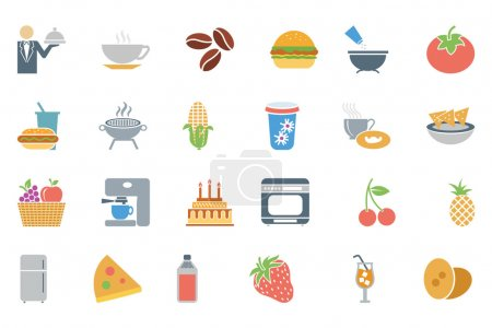 Food Colored Vector Icons 3