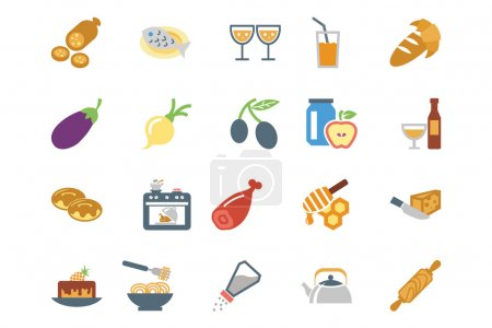 Food Colored Vector Icons 9