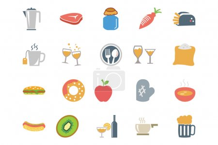 Food Colored Vector Icons 11