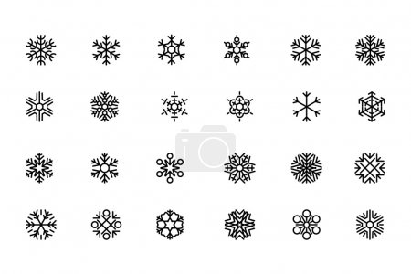 SnowFlakes Vector Icons 1