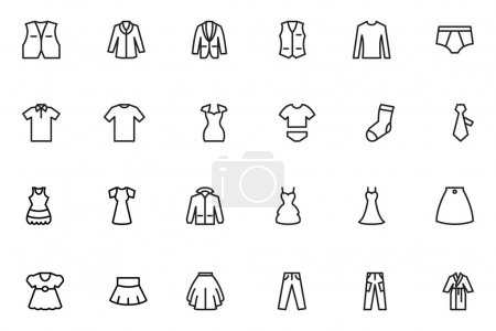 Clothes Line Vector Icons 2