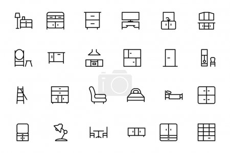 Furniture Vector Line Icons 3