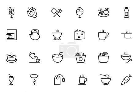 Food Vector Outline Icons 4