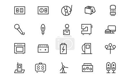 Electronics Vector Line Icons 6