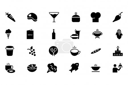 Food Vector Solid Icons 2