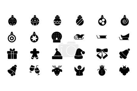 Illustration for Christmas is one of the most joyful times of the year. These Christmas icons are perfect to create Christmas related print designs, greeting cards and sale posters. - Royalty Free Image