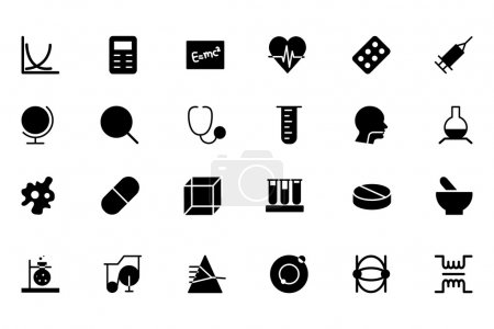 Science Vector Solid Icons 2