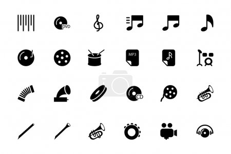 Music Vector Solid Icons 2