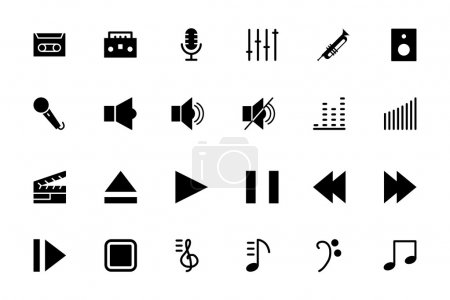 Music Vector Solid Icons 1
