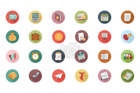 Business Flat Colored Icons 1