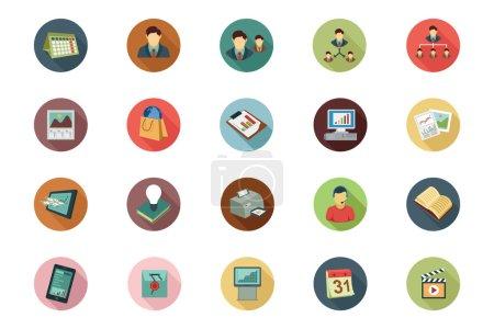 Illustration pour Obtenez vos conceptions commerciales prochaines ! Vous pouvez utiliser cette entreprise icônes pack comme tu veux, le jeu s'adapte assez pour le site Web d'entreprise ou blog personnel! - image libre de droit