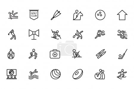 Sports Vector Line Icons 7