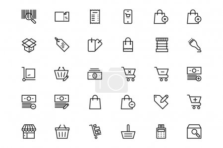 Shopping and commerce Vector Line Icons 3