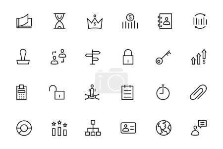 Business and Finance Vector Line Icons 5