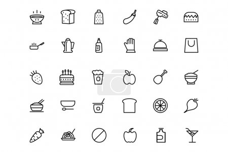 Food and drinks Line Icons 7
