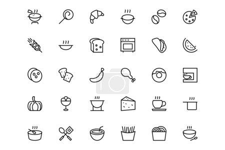 Photo pour Aujourd'hui, nous vous présentons les meilleures icônes de la nourriture et des boissons qui vous aideront sûrement avec vos projets créatifs . - image libre de droit