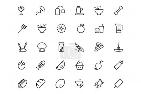 Food and drinks Line Icons 14