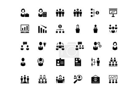 Human Resource Vector Icons 2