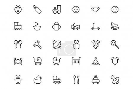 Baby Vector Line Icons 2