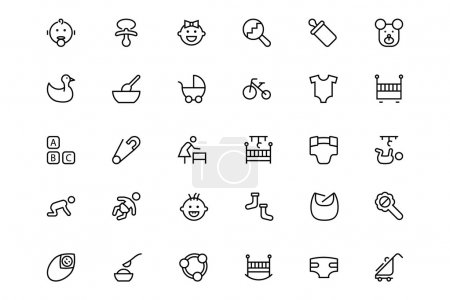Baby Vector Line Icons 1