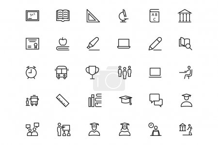 School and Education Vector Line Icons 1