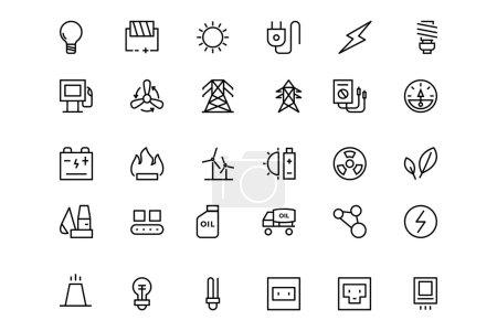 Energy Vector Line Icons 1