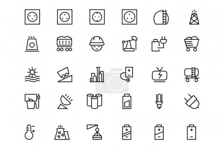 Energy Vector Line Icons 2