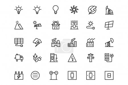 Energy Vector Line Icons 3