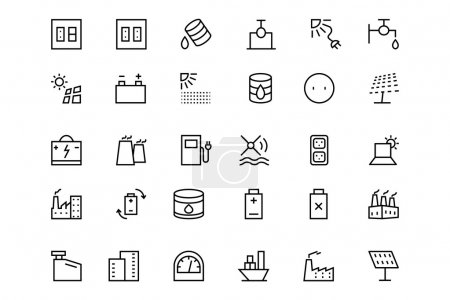 Energy Vector Line Icons 4