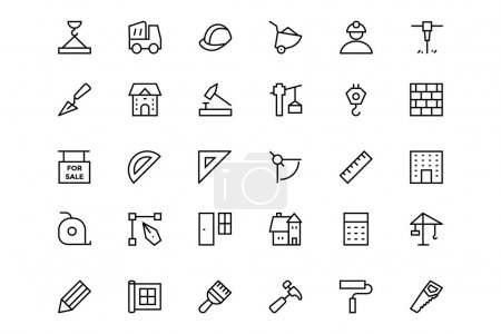 Construction Vector Line  Icons 1